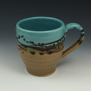 Blue Tan Short Mug