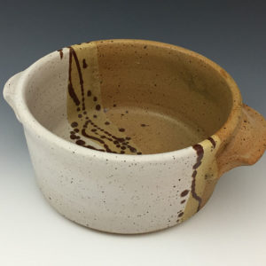 Brown Bowl with Handles