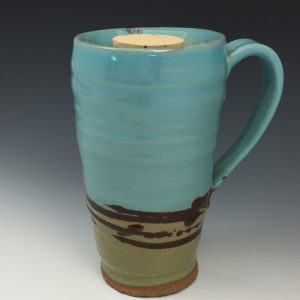 Earthy Blue Green Travel Mug